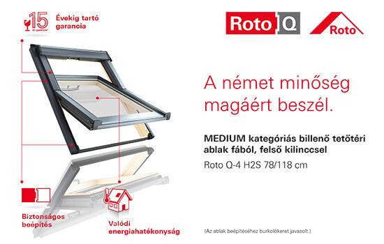 Roto Q tetőablak Micorex tüzép, építőanyag kereskedelem Miskolc