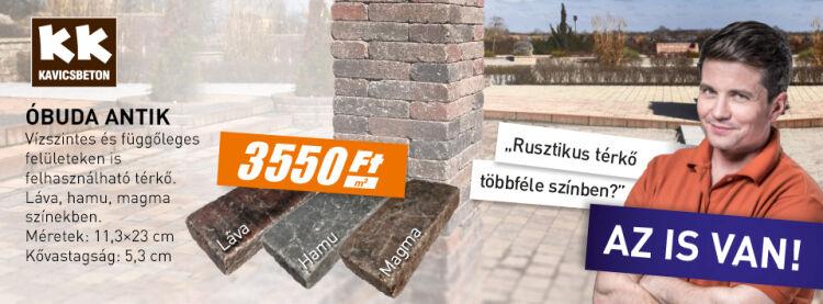 KK Kavics Beton térkő akció Micorex tüzép építőanyag Miskolc újHÁZ Centrum