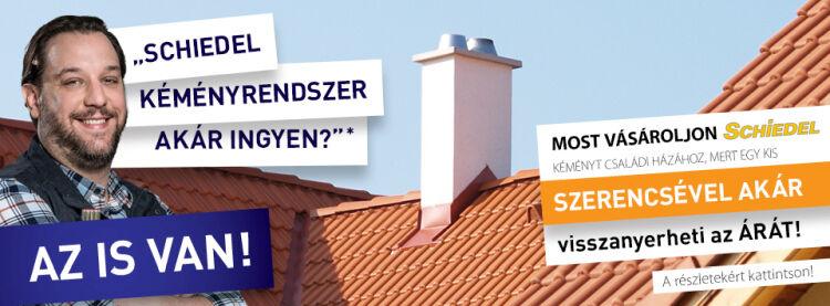 Schiedel kéményrendszer akció Micorex tüzép, építőanyag kereskedelem Miskolc újHÁZ Centrum