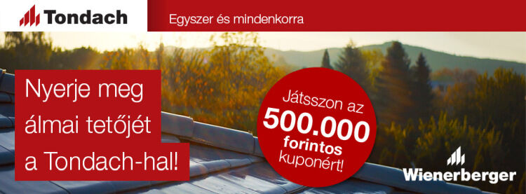 Tondach tetőcserép nyereményjáték Micorex tüzép, építőanyag Miskolc újHÁZ Centrum