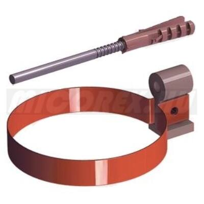 Galeco Stal ereszcsatorna rendszerelem fém csőbilincs OM + dübel