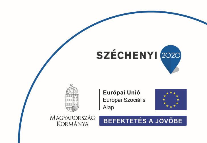 Széchenyi 2020 pályázat GINOP-6.1.6-17-2018-00552